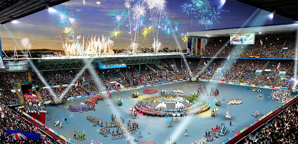 commonwealth games IC tomorrow mobile app concept - enanging the student audience arena ceremony