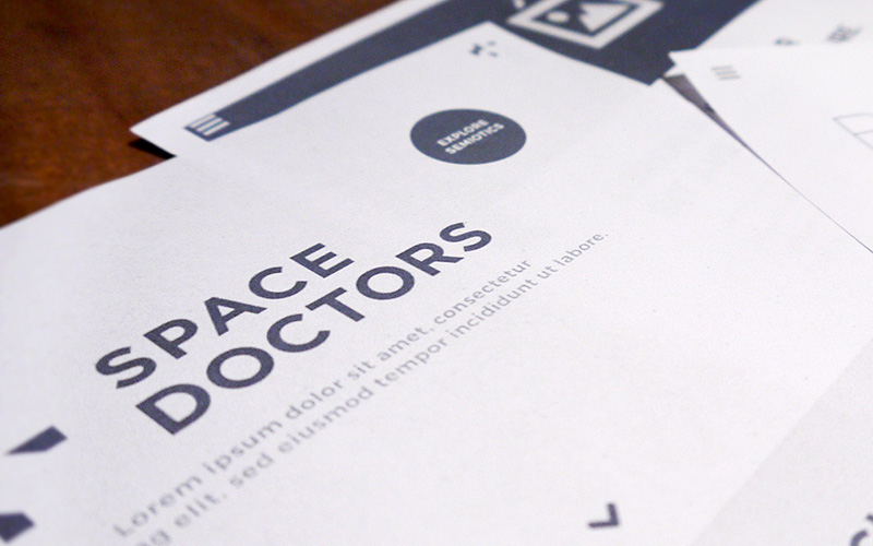 wireframe designs for space doctors semiotics and insight agency