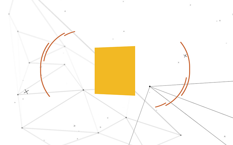 Still from what is semiotics interactive experience for space doctors semiotics and insight agency - yellow square partcile background