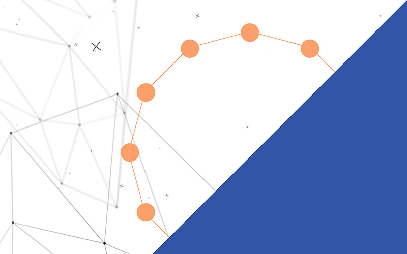 Still from what is semiotics interactive experience for space doctors semiotics and insight agency - hexagon and circles and diagonal blue block