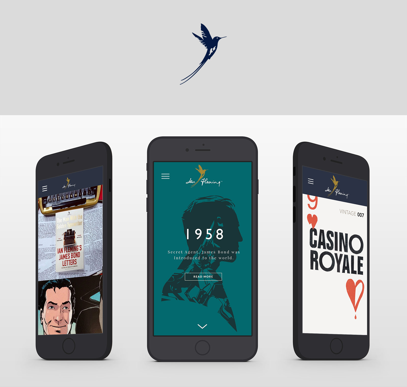 Ian Fleming Publications website on mobile